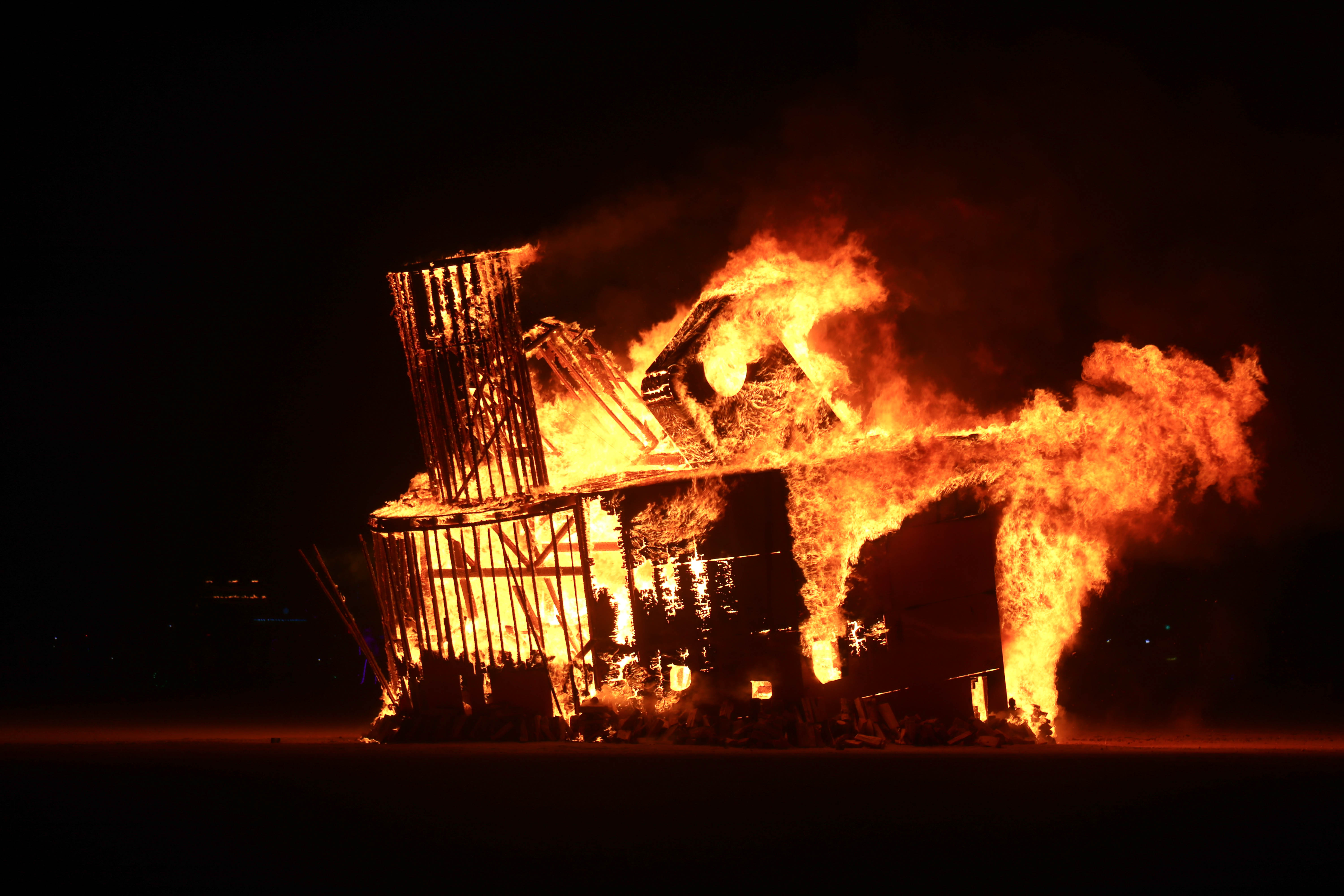 The Burning Man burn