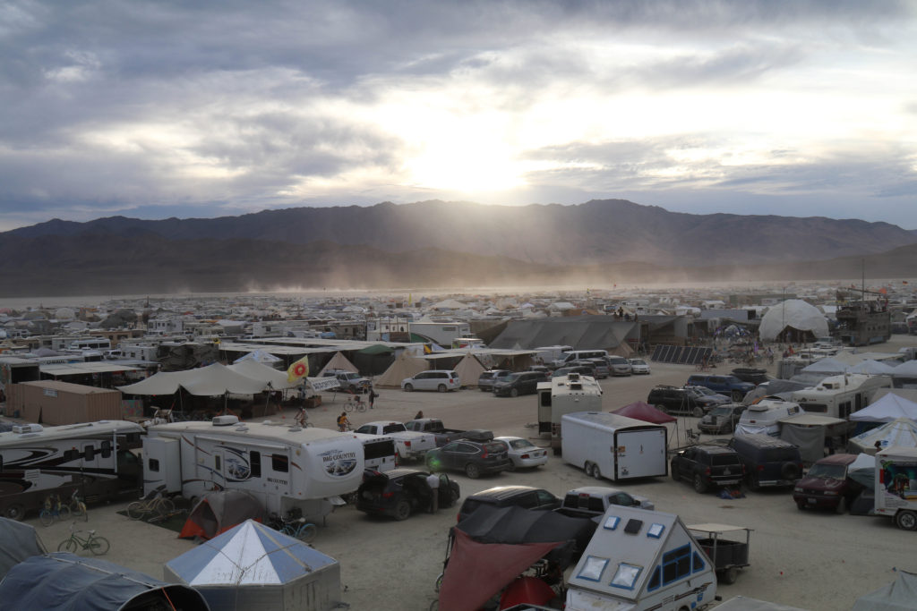 Burning Man from a tower