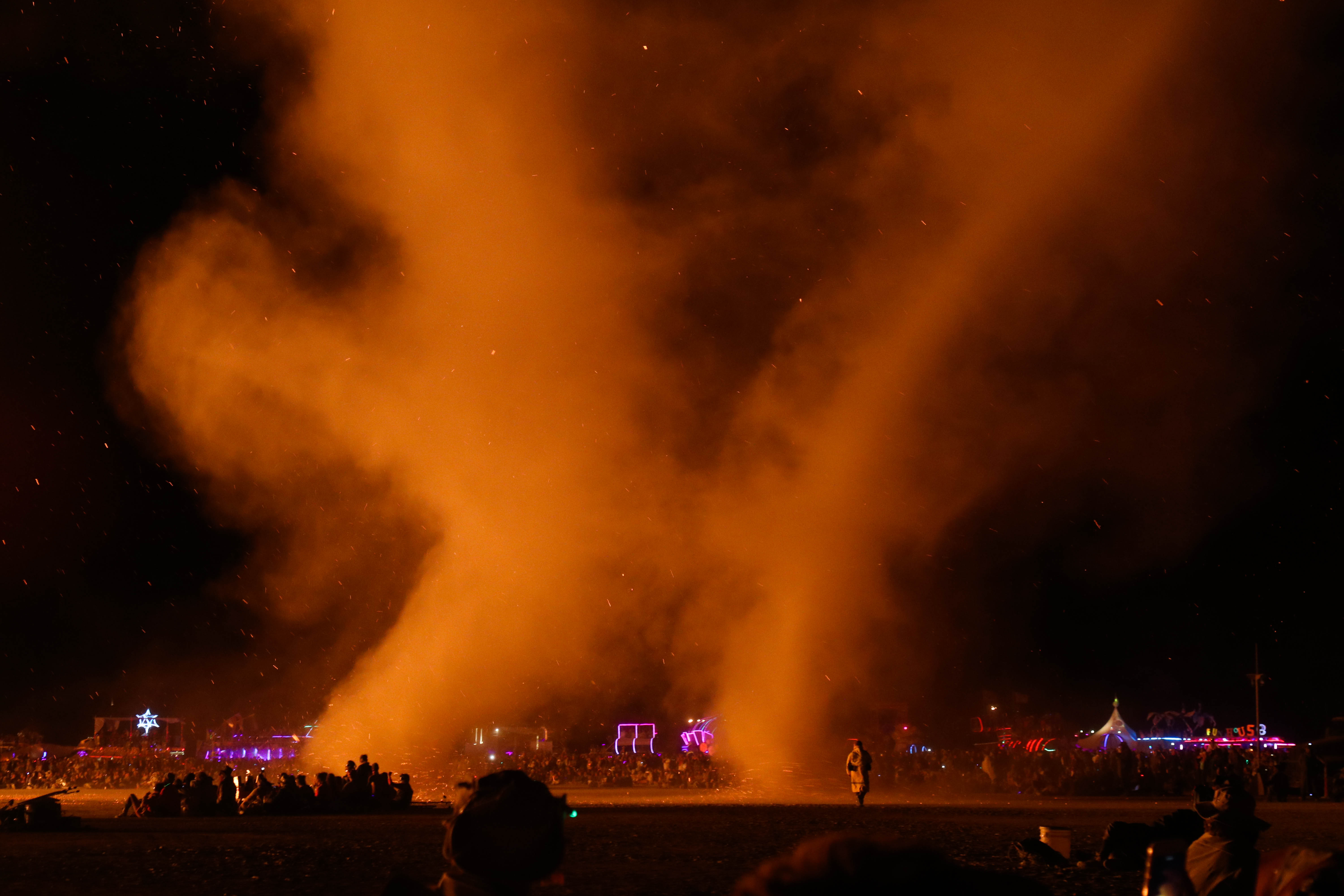 Dust Devil at the Burning Man burn 2