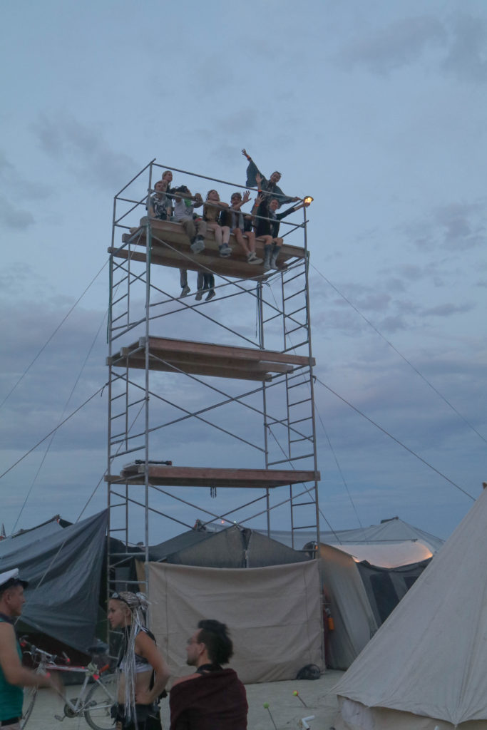 Rickety Tower at Burning Man