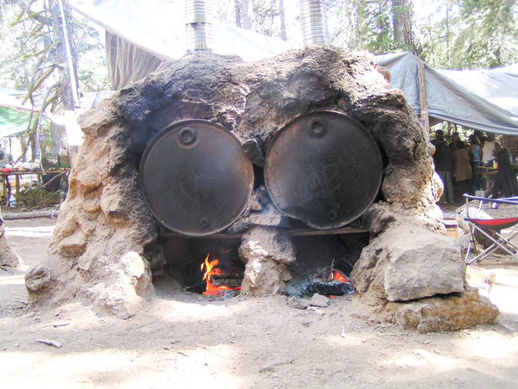 These are some of the Lovin' Ovens used to bake for the Rainbow Gathering